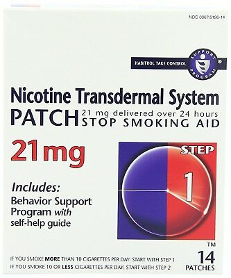 Habitrol Nicotine Transdermal System, Step 1 Patches 21 mg, 14 Count