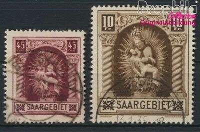 Saar 102-103 (complete issue) fine used / cancelled 1925 Madonna (8894280