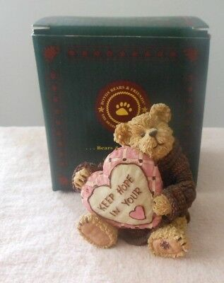 BOYDS BEARSTONE 2006 BRENDA JEAN...NEVER GIVE UP HOPE 1st Edition  #B44