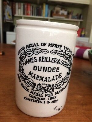 Vintage James Keiller & Sons Dundee Marmalade Jar Pot Crock
