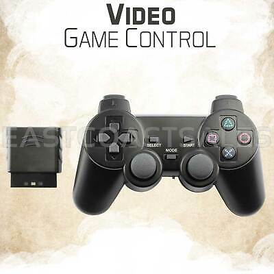 Blue Wireless Video Game Shock Remote Controller For Sony PS2 Playstation 2