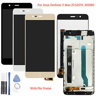 5.2'' For Asus Zenfone 3 Max ZC520TL X008D LCD Display + Touch Screen + Frame AR