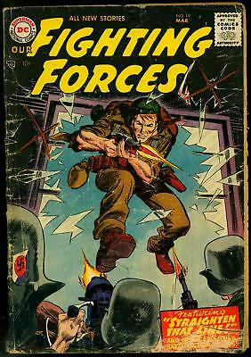 Our Fighting Forces #19 1957- DC War comic- Joe Kubert FAIR