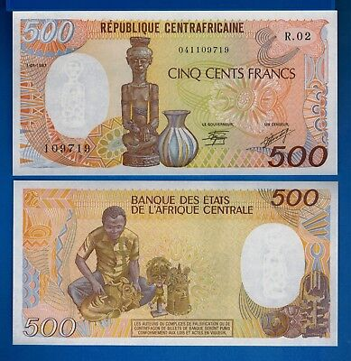 Central African Republic P-14c 500 Francs 1987 Uncirculated Banknote Africa