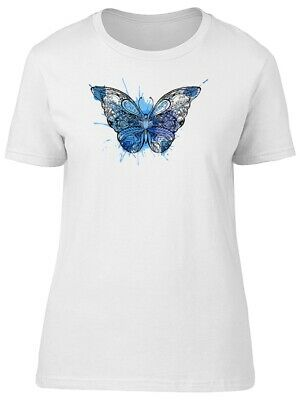 Lovely Blue Floral Butterfly Women's Tee -Image by Shutterstock