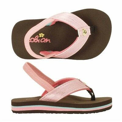Cobian WAHINE Girls Toddler Synthetic Strap Flip-Flop Sandals 5/6 Pink NEW 2018