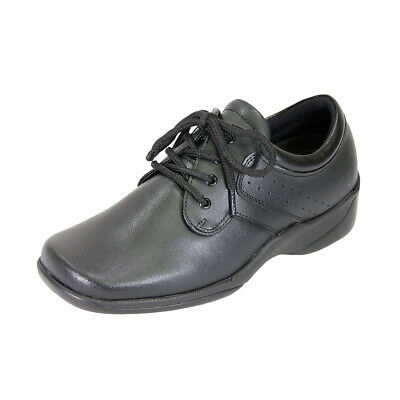 70f29ae8efb2 24 HOUR COMFORT Meg Women Adjustable Wide Width Leather Lace Up Walking  Shoes