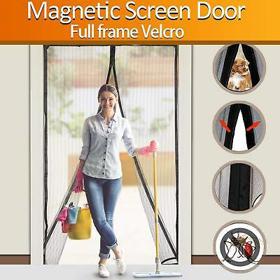 Magnetic Mosquitos Screen Door Heavy Duty Mesh Curtain Screen and Full Frame