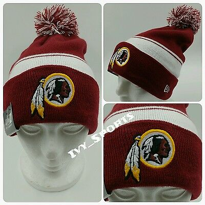 size 40 2c500 84979 NFL Washington Redskins New Era Cuffed Knit Beanie with Pom