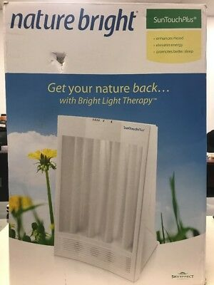 NatureBright SunTouch Plus Light and Ion Therapy Lamp — New OPEN BOX