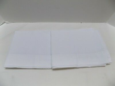 """Pair of Vintage Handmade Pillow Cases for Embroidering  20 x 30"""" White Free Ship"""