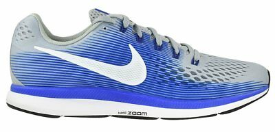 New Nike- Air Zoom Pegasus 34 Running Shoes Wolf Gry Wht Racer Blue 875db5c1c