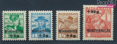 Austria 613-616 (complete issue) with hinge 1935 Winter Aid (8103683