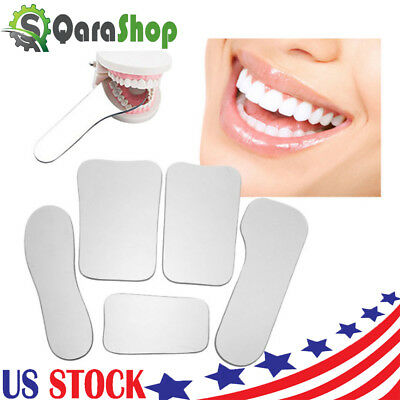 5pc Dental Orthodontic Oral Intraoral Photographic 2-sided Rhodium Mirrors Glass