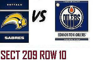 1-2 Tiks Edmonton Oilers Vs Buffalo Sabres Jan 14 Rogers Place Sect 209 Row 10