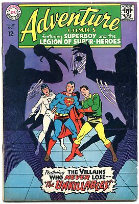 Adventure Comics #361 1967-DC SILVER AGE-Superboy-Legion of Super-heroes VG