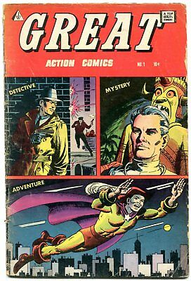 Great #1 1964- Golden Age comic Reprint - Severin- Captain Truth G/VG