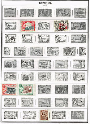 43 Dominica 1910-1987 stamps including Disney