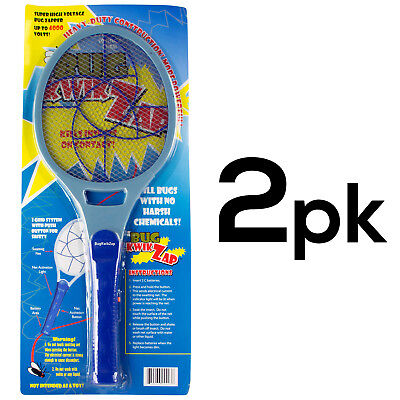 Powerful Racket Fly Swatter Bugs Mosquito Zapper Electrostatic Technology (2PK)