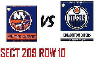 1-2 Tiks Edmonton Oilers Vs New York Rangers Mar 11 Rogers Place  Sect 209 R10