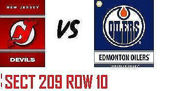 1-2 Tiks Edmonton Oilers Vs New Jersey Devils Mar 13 Rogers Place  Sect 209 R10