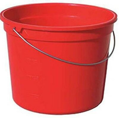 Dangerous + Pathogens?  Zoom Supply UUPR295342 Heavy Duty Red Cleaning Pail