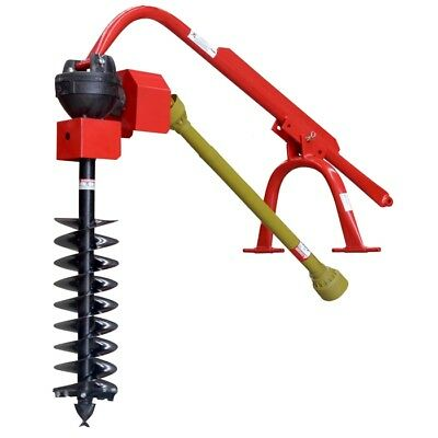 """Post Hole Digger and 9"""" Auger CAT1, 3PL for Tractor to 60HP 6"""" Slip Clutch"""
