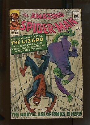 The Amazing Spider-Man #6 (4.0) 1St Appearance Of The Lizard!