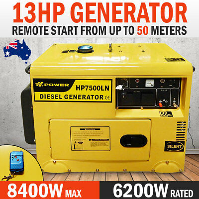 NEW Power Star 8Kva/6Kva Rated Diesel Silent Generator Single Phase With Remote