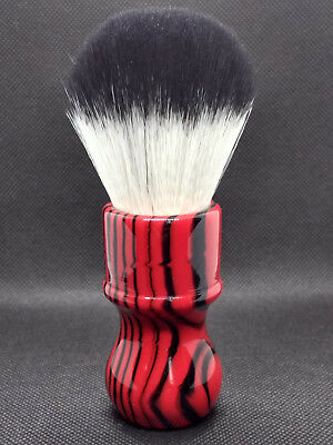 Yaqi Evil Zebra 26mm  Knot Black and Red Handle Synthetic Hair Shaving Brush