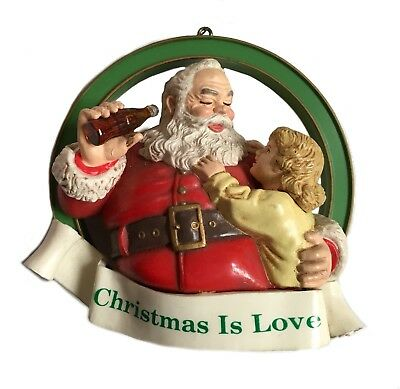 Coca Cola Christmas Trim A Tree Collection Ornament Christmas is Love Box H2803