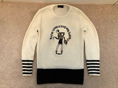 1970s you/'ve come a long way baby virgina slims sweater rare find vtg large