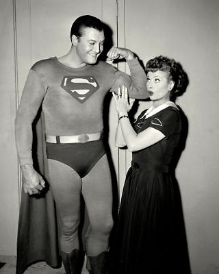 "George Reeves As ""Superman"" & Lucille Ball In ""I Love Lucy"" 8X10 Photo Print"