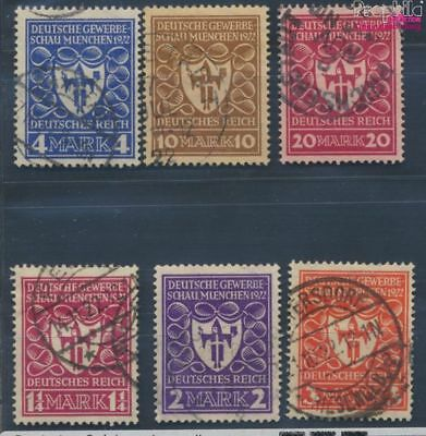 German Empire 199-204, of is number. 204 proofed used 1922 Trade Show (8111662