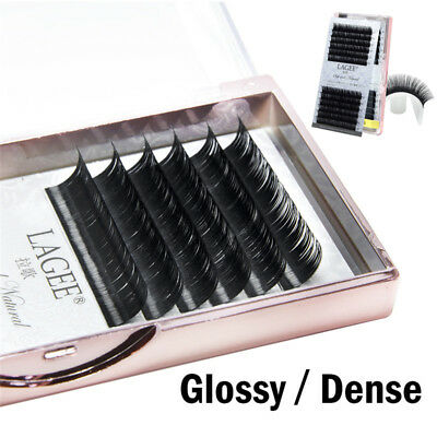 Soft 3D Mink Hair Individual False Eye Lashes Extensions B/C/CC L7-15mm Makeup