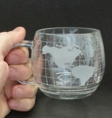 The Nestle Co. World Map Glass Coffee Mug