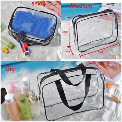 Cosmetic Makeup Toiletry Clear PVC Travel Wash Bag Zipper Holder Pouch Kit