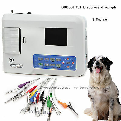 VET ECG Machine 3 Channel 12 lead,Veterinary Electrocardiograph,PC software,CE
