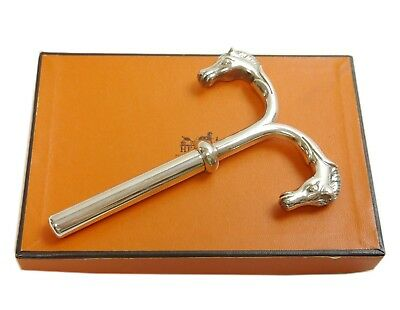 Authentic HERMES Wine opener horse vintage rare Silver Sterling Silver #7078