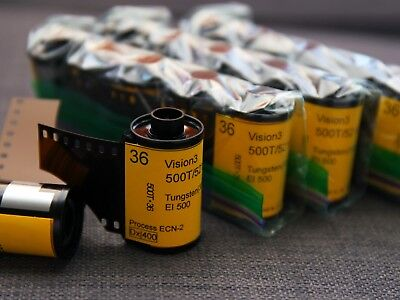 35mm-Kodak Vision3 500T/5219 cine color negative film, 36exp (*5 rolls)
