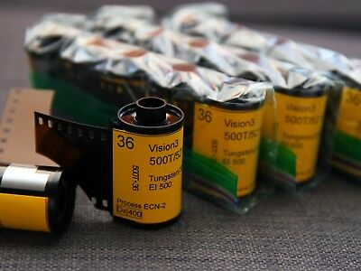 35mm-Kodak Vision3 500T motion picture color negative film, 36exp (*5 rolls)
