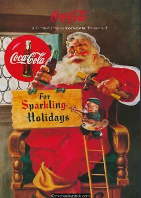 Australia 1996 $5 Coca-Cola Santa Claus 2 Phonecard Folder Ltd Ed