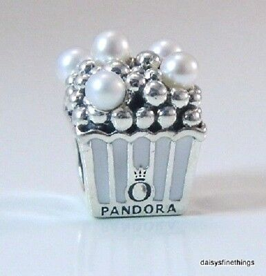 New/tags Authentic Pandora Silver Charm Delicious Popcorn #797213En160