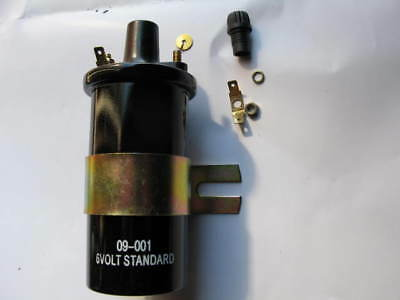 NEW 6 VOLT IGNITION COIL,Screw in HT connection, VINTAGE