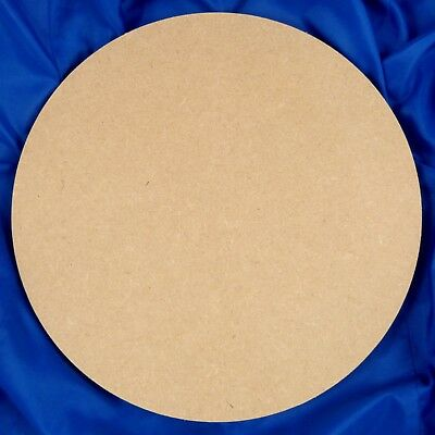 Circle 6mm thick Square-Edged MDF 100mm - 450mm Diameter (wooden shape)