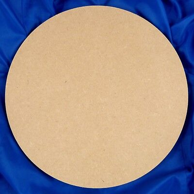 Circle 9mm thick Square-Edged MDF 100mm - 450mm diameter  (wooden shape)