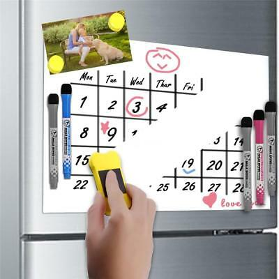 Large A3 Magnetic Whiteboard Family Planner Shopping List+ 3 Free Marker E4H0