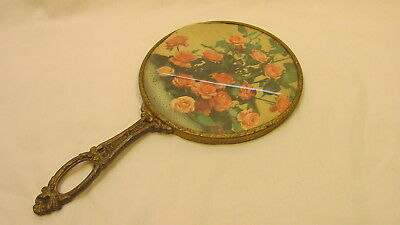 Antique Brass Hand Held Mirror