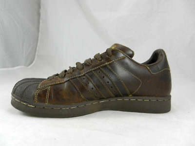 715c7e62e2ee Vintage ADIDAS Shell Toe Superstar Brown Leather Basketball Shoes Men s 8