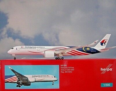 Herpa Wings1:500 Airbus A350-900 Malaysia Arlines 9M-MAC 531344 Modellairport500